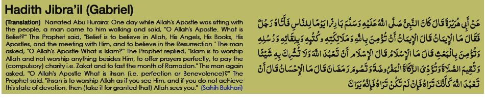 Tazkia - Hadith Jibra'il - Gabriel - Tasawwuf - Islamic